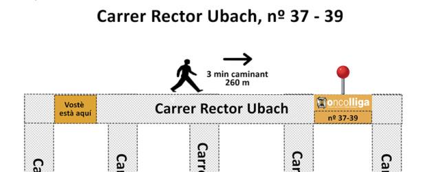 Oncolliga trasllada la seu de Barcelona al carrer Rector Ubach, núm. 37-39, de Barcelona
