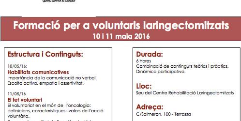 Curs de voluntariat a Terrassa