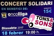 Concert solidari a Terrassa a càrrec de Tons & Sons