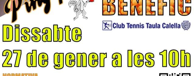 Torneig benèfic al Club deTennisTaula Calella