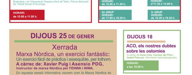 Activitats Vallès – Gener 2018