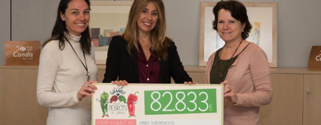 Condis entrega el xec amb 82.833 € de la campanya solidària #PebrotsCàncer