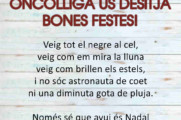 Oncolliga us desitja Bones Festes!
