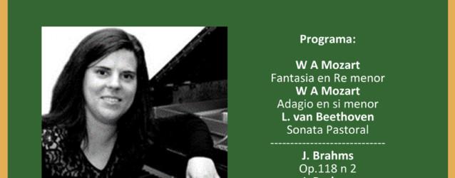 Recital de piano a càrrec d'Ingrid Cusido