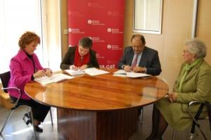 Signatura conveni SAD amb ajuntament i diputació 2008