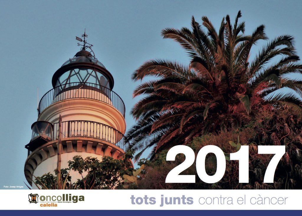 Calendari 2017 de la delegació d'Oncolliga de Calella de Mar